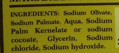 Savon de Marseille à l'huile d'olive - Ingrédients