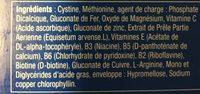 Novophane Ongles Et Cheveux - Ingredients - fr