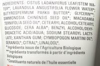 Crème mains - Ingredients - fr