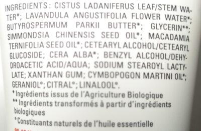 Crème mains - Ingredients