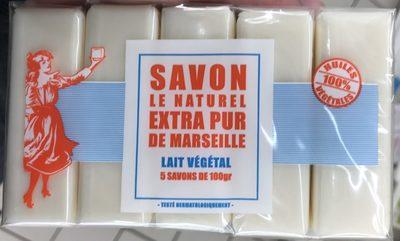 Savon extra pur de Marseille Lait végétal - Produit