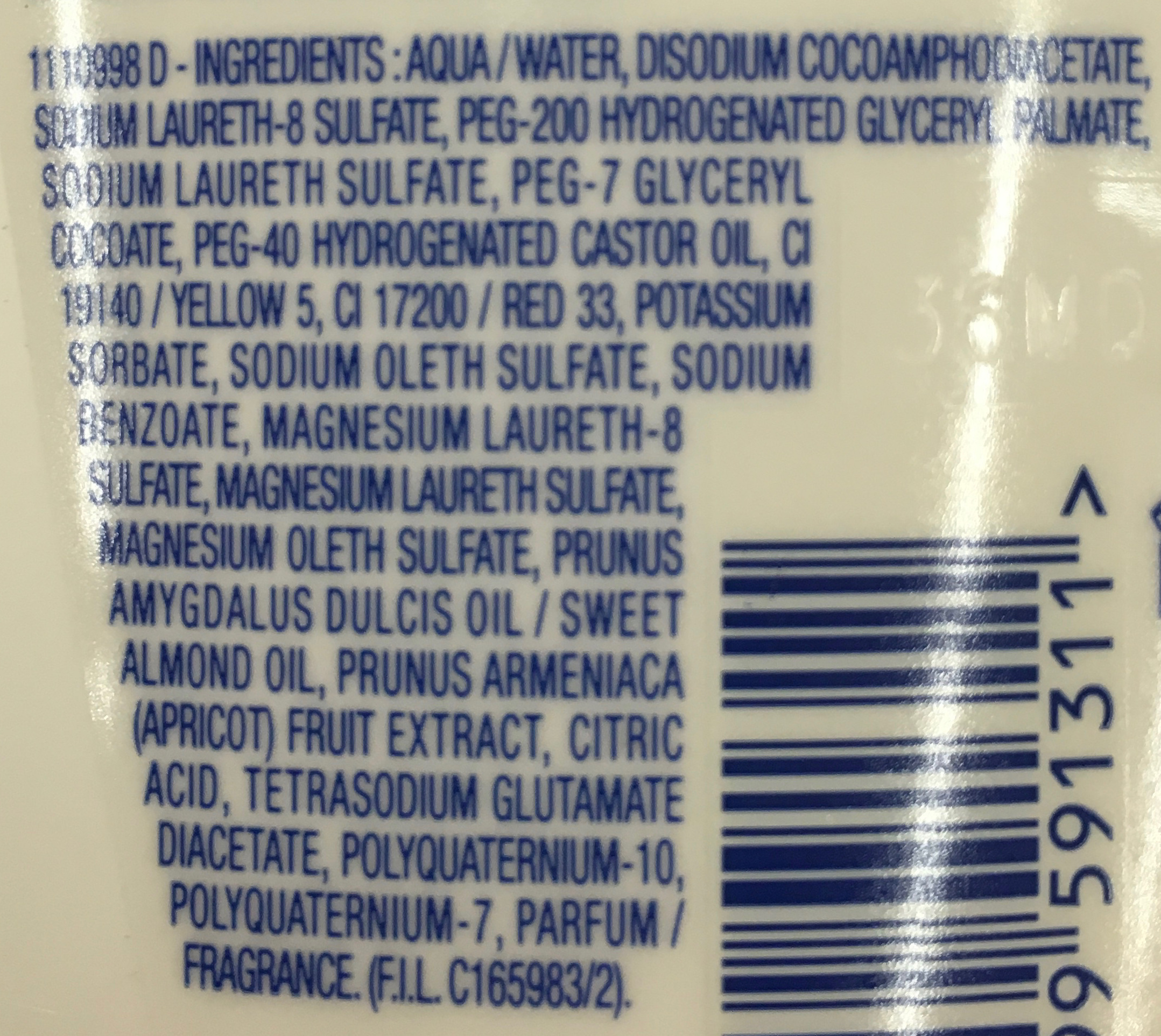 Shampooing 2 en 1 ultra démêlant - Ingredients - fr