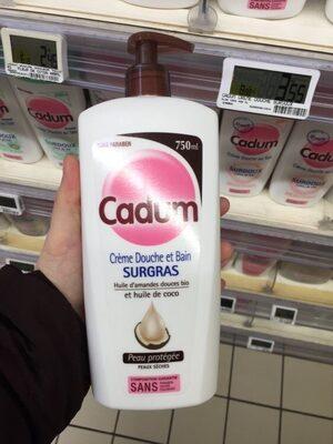 Crème douche et bain surgras, Huiles d'amandes douces bio et huile de coco bio vierge - Product