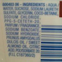 Crème douche et bain surgras, Huiles d'amandes douces bio et huile de coco bio vierge - Ingredients - fr
