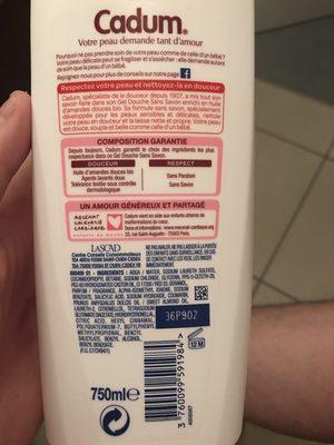 Gel douche sans savon, Huile d'amandes douces bio - Ingredients