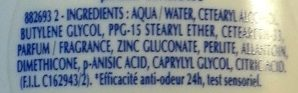Deo Doux 24H - Ingredients - fr