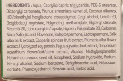 Edenens Nectar Purifiant Crème Sébo régulatrice - Ingredients