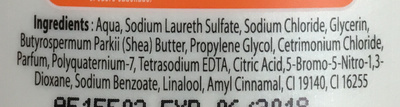 Shampooing nourissant Karité - Ingredients