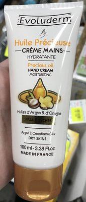 Huile Précieuse Crème Mains Hydratante Huile d'Argan & d'Onagre - Produit