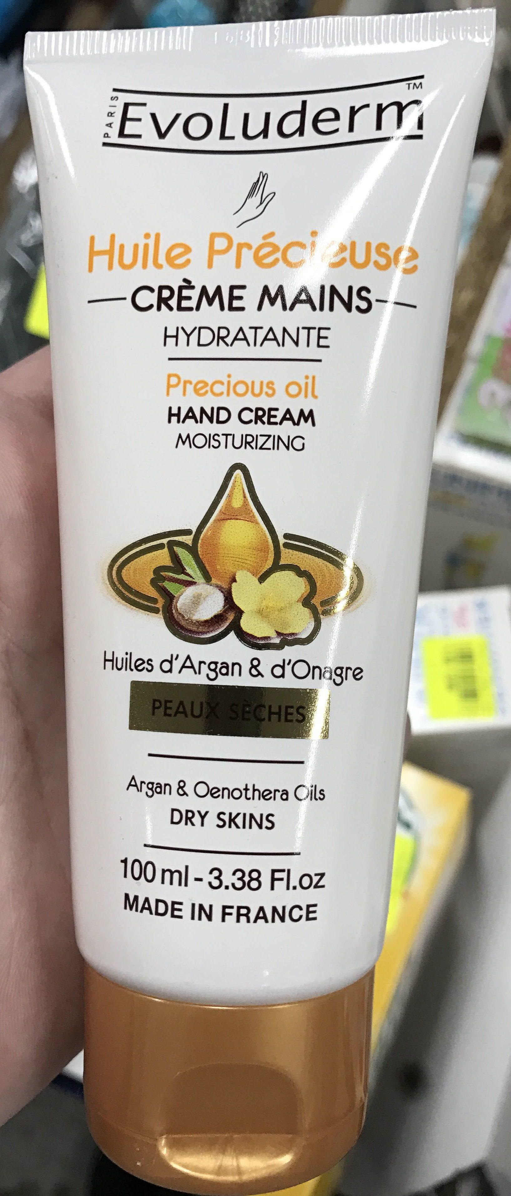Huile Précieuse Crème Mains Hydratante Huile d'Argan & d'Onagre - Product - fr
