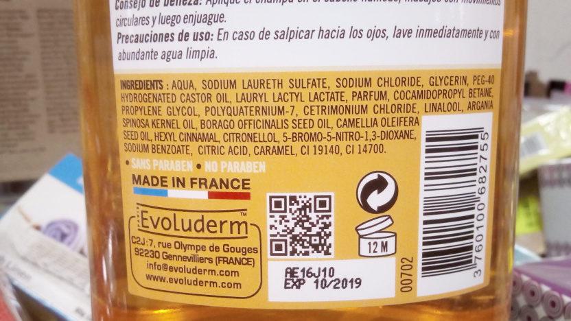 Shampooing précieux Huile Précieuse - Ingredients