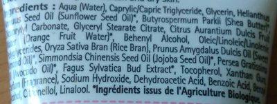 Crème visage anti-rides - Ingredients