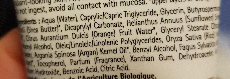 Crème Anti-âge Argan - Ingredients - fr