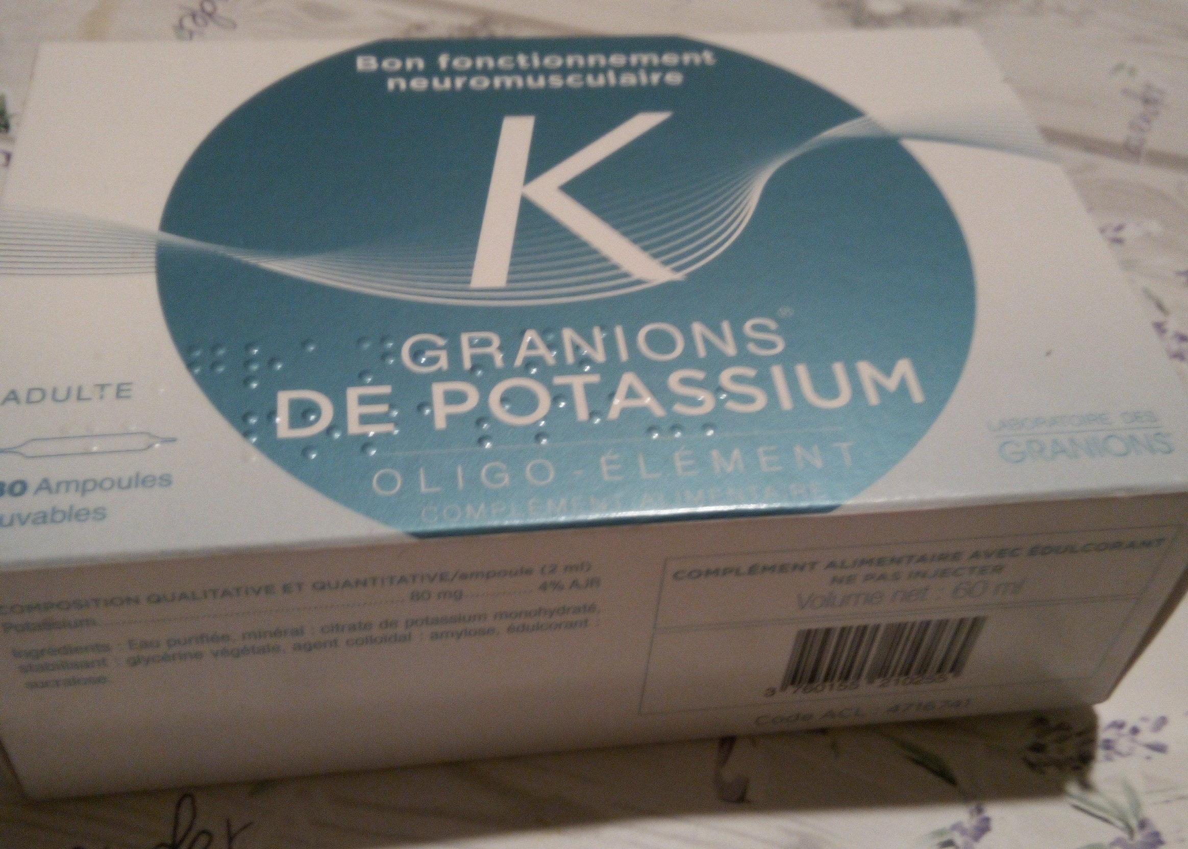 granions de potassium - Produit - fr