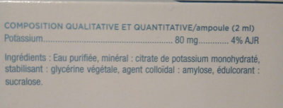 granions de potassium - Ingrédients - fr