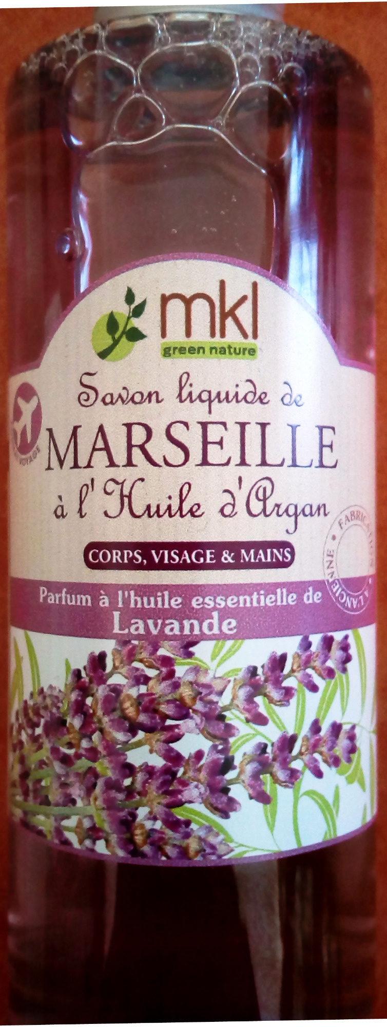 Savon liquide de Marseille à l'huile d'Argan Lavande - Produit