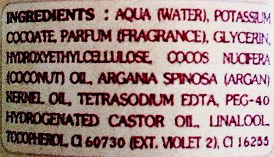 Savon liquide de Marseille à l'huile d'Argan Lavande - Ingrédients