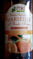 Savon liquide de Marseille à l'Huile d'Argan (parfum Orange Miel) - Produit - fr