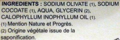Sapophile - Ingrédients