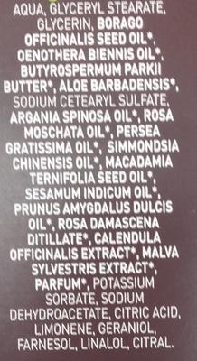 Crème visage anti-âge - Ingredients