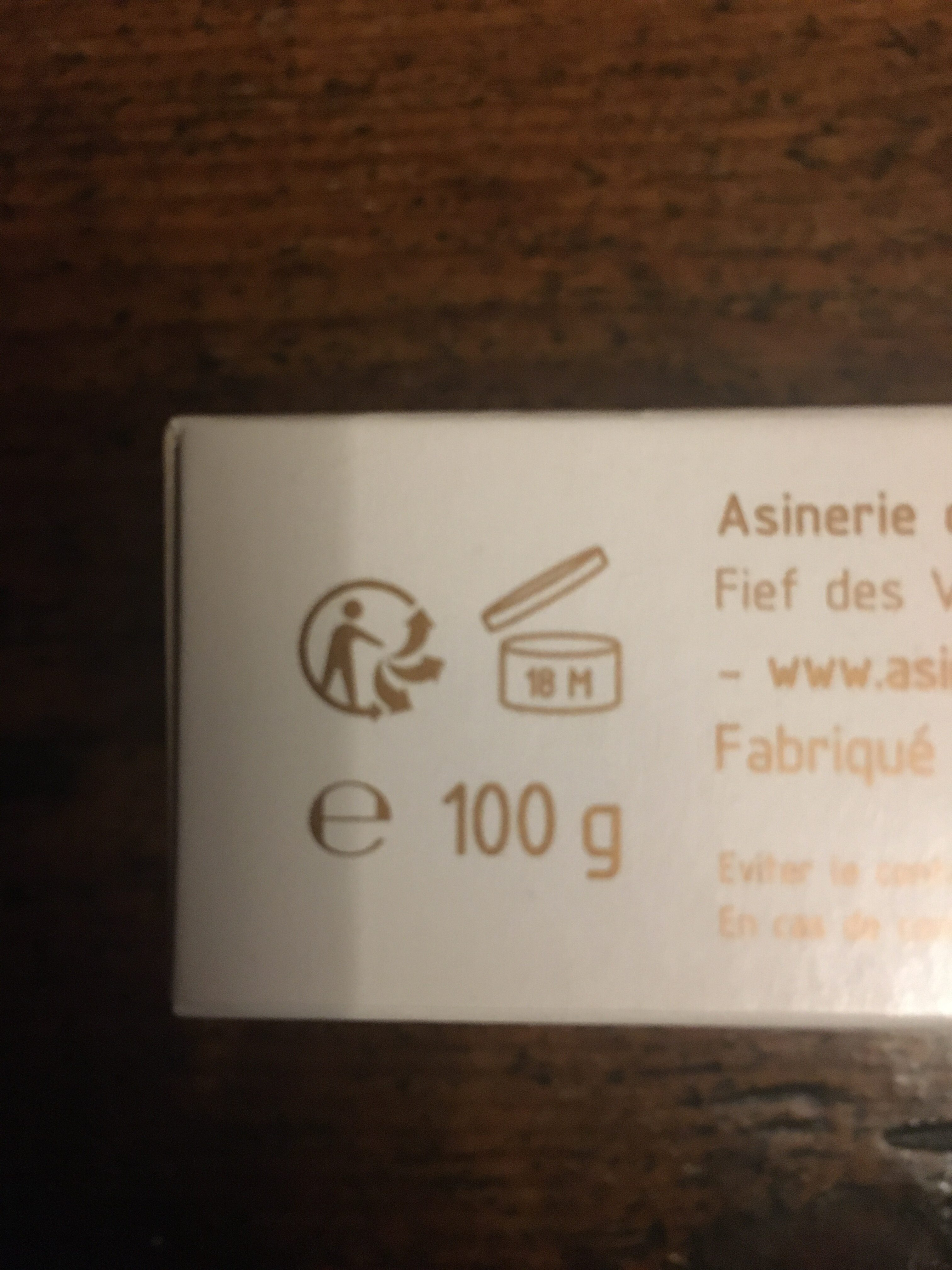 Savon au lait d'annesse - Recycling instructions and/or packaging information - fr