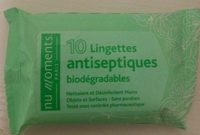 Lingettes antiseptiques biodégradables - Product