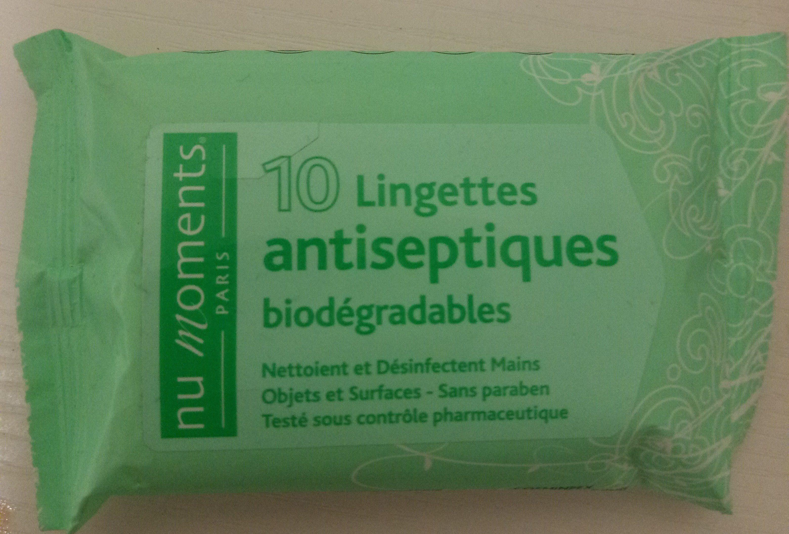 Lingettes antiseptiques biodégradables - Product - fr