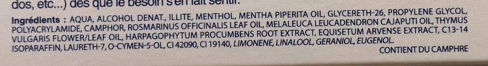 Argel 7 - Ingredients - fr