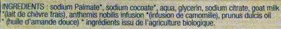 Savon surgras bio au lait de chèvre alpine - Ingredients - fr