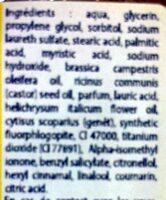 Savon Genet à l'huile essentielle d'Helichryse - Ingrédients - fr