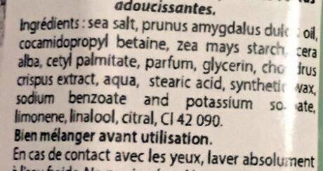 Gommage Thalasso au sel de Guérande et aux algues - Ingredients