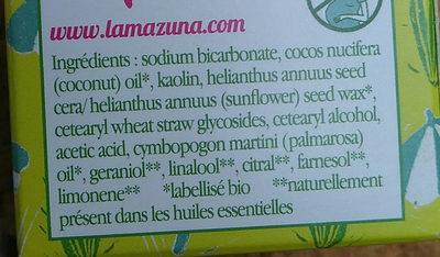 Déodorant solide - Ingredients - fr