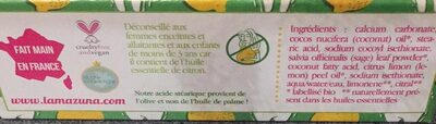 Dentifrice solide - Sauge - Citron - Ingredients
