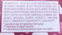 Nettoyant visage solide à l'hibiscus - Ingredients