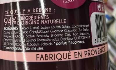 Gel Douche Fruit de la passion - Ingrédients
