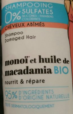 Energie Fruit Shampooing Sans Sulfates Au Monoi - Ingredients