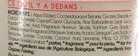 Les Biolistas crème de douche hydratante Fleur de Pamplemousse - Ingrédients