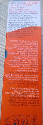 crème solaire - Ingrédients - fr