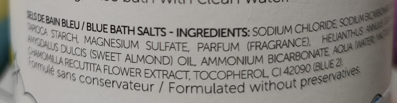 Sels de bain colorés bleu - Ingrédients