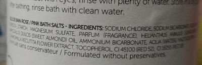 Sels de bain colorés rose - Ingredients