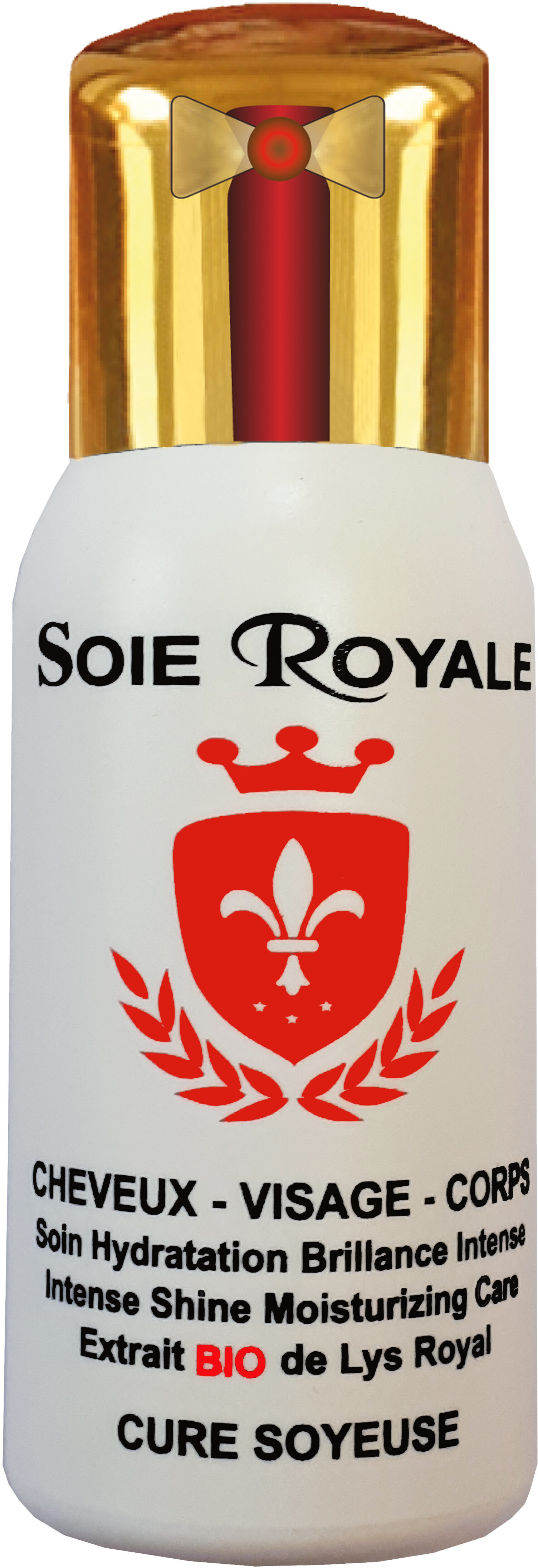 Soie royale BIO Cure Soyeuse Soin Hydratation Brillance Intense Cheveux Visage Corps - Ingredients - fr