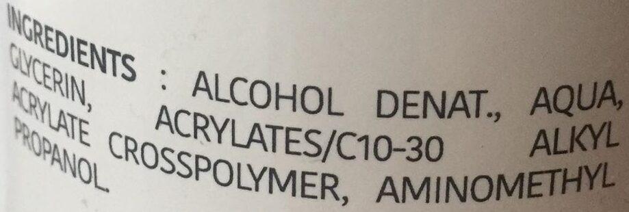Gel Hydro-Alcoolique - Ingredients - fr