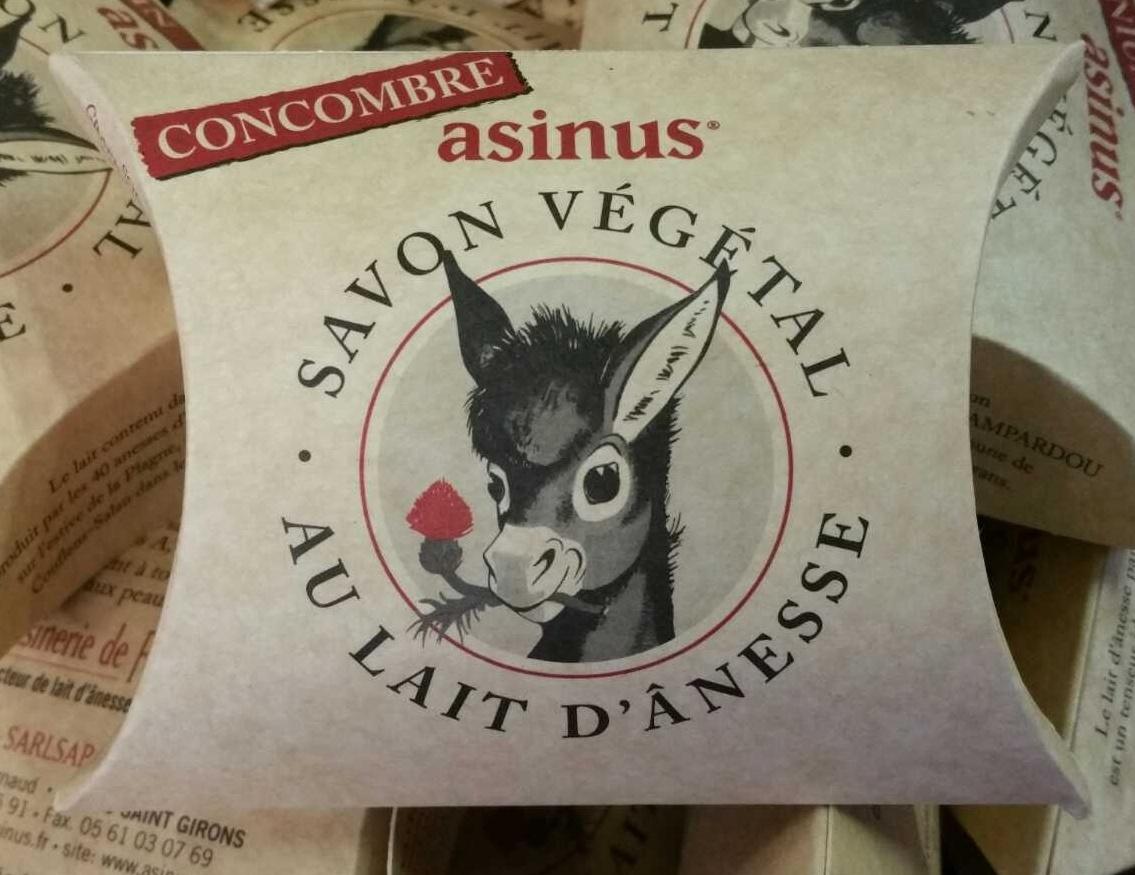Savon végétal au lait d'ânesse Concombre - Produit - fr