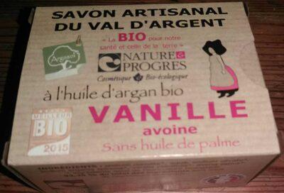 Savon artisanal du Val d'Argent à l'huile d'argan bio Vanille Avoine - Product