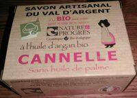 Savon artisanal du Val d'Argent à l'huile d'argan bio - Cannelle - Product