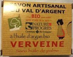 Savon Artisanal du Val d'Argent à l'huile d'argan bio - Verveine - Product - fr