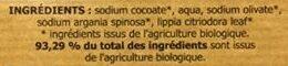 Savon Artisanal du Val d'Argent à l'huile d'argan bio - Verveine - Ingredients - fr