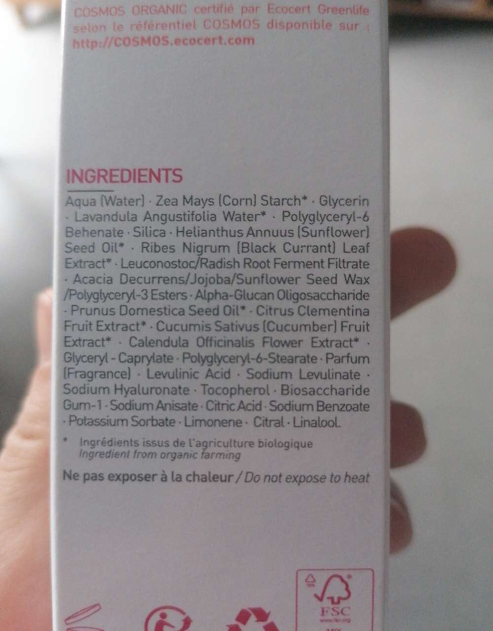 Soin hydratant blur - Ingredients - fr