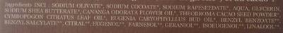 Cacao Ylang ylang - Ingredients