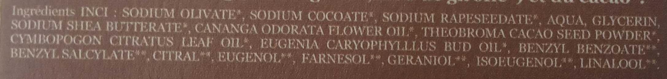 Cacao Ylang ylang - Ingrédients